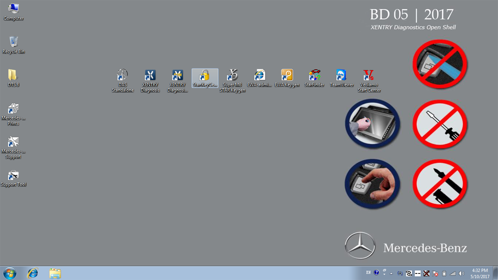 Benz XDOS Software Main Screen