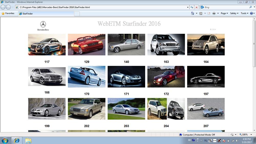 Benz XDOS Software - ST Finder