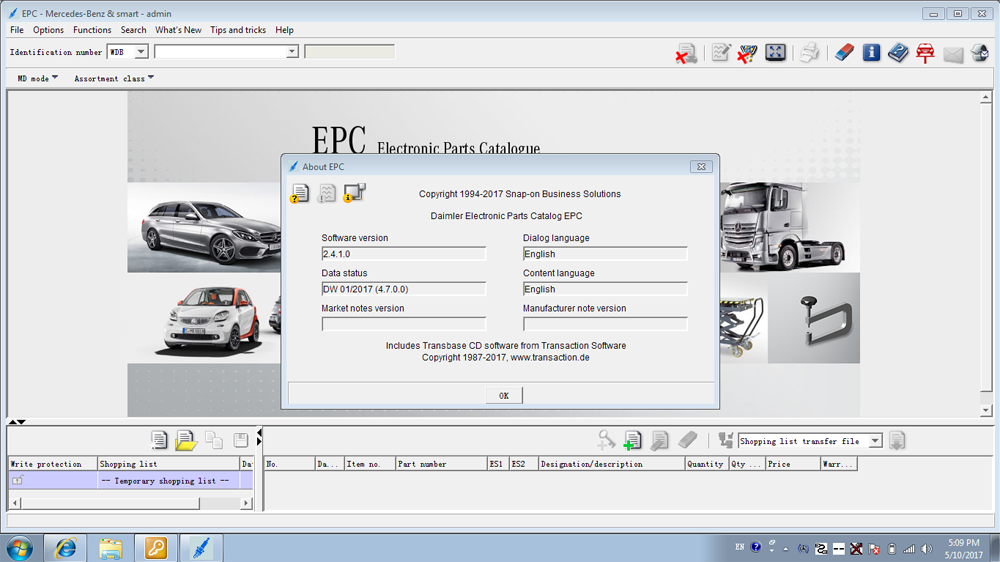 SD Connect C4 Software - EPC