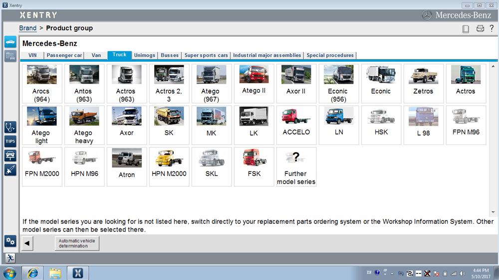 Benz XDOS Xentry-Truck