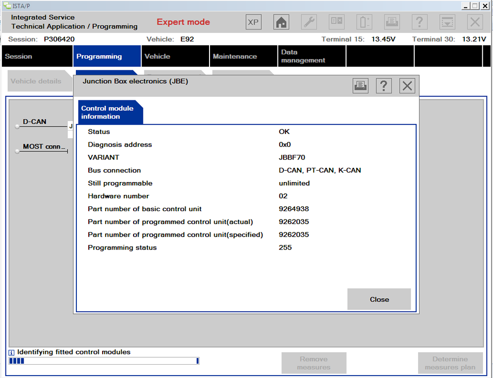 ICOM Software Control Module Information