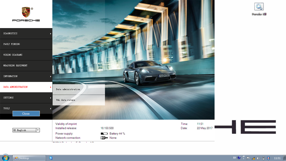 Porsche Piwis II V18.150 -Data Adminstration