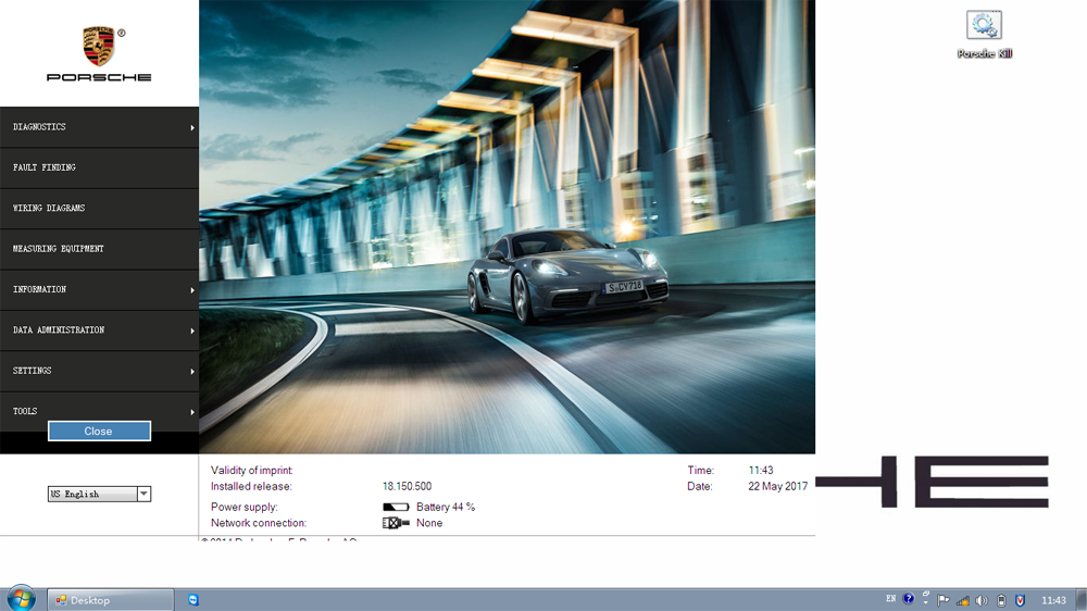 Porsche Piwis II V18.150 Main Screen