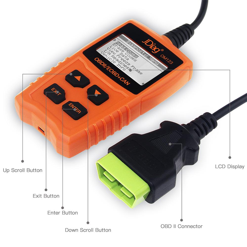 JDiag OM123 Code Reader Buttons