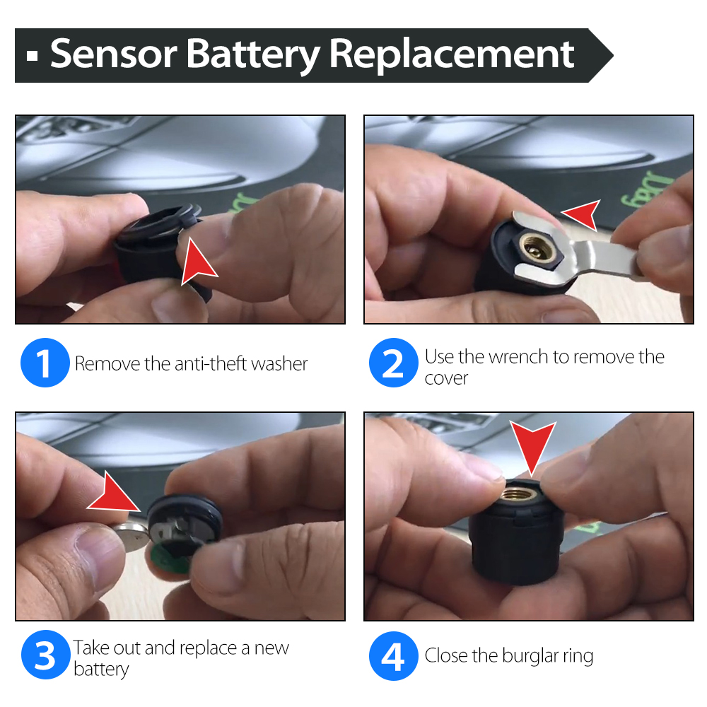 JDiag FasTPMS TP808 Sensor Battery Replacement