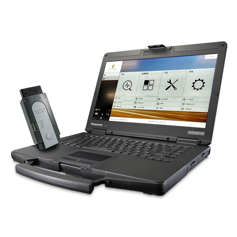 Porsche Piwis Tester III with Panasonic CF54 Laptop