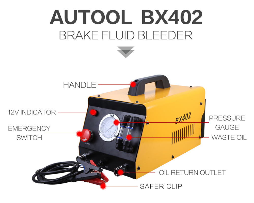 AUTOOL BX402 Brake Fluid Bleeder