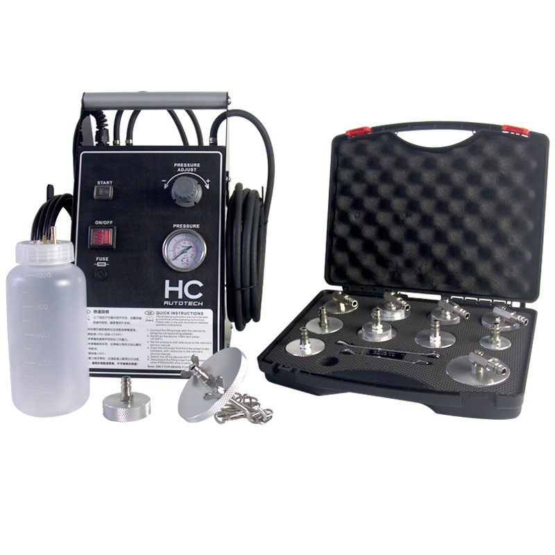 Pulsating Brake Fluid Bleeder & P10 Adapter Kit & Universal Adapter