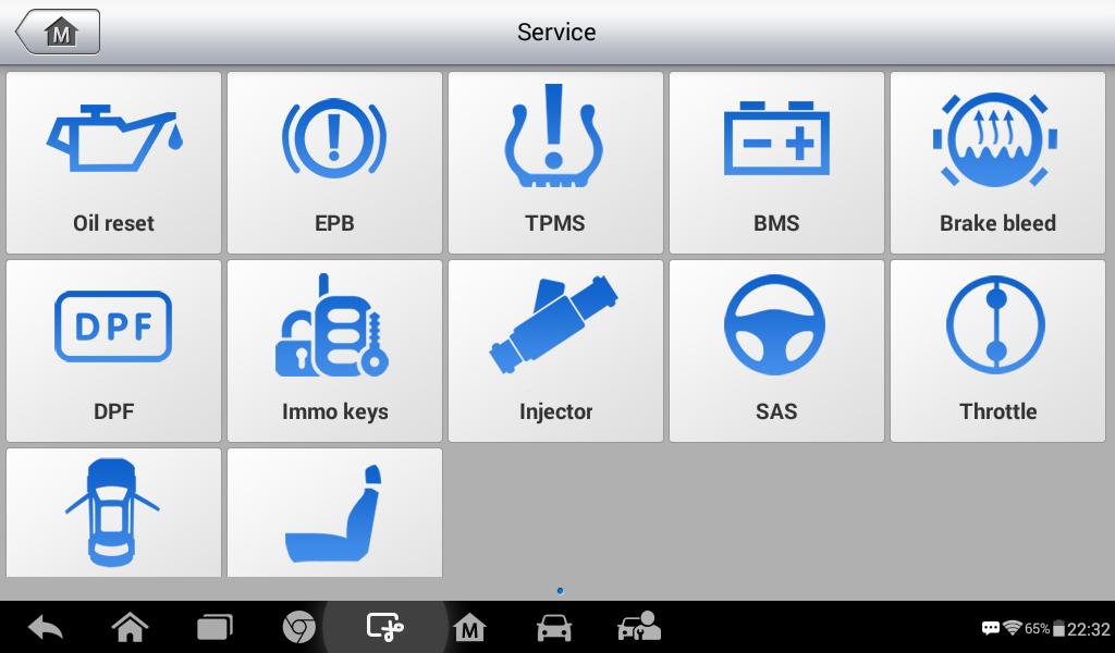 Autel MK808 Function List